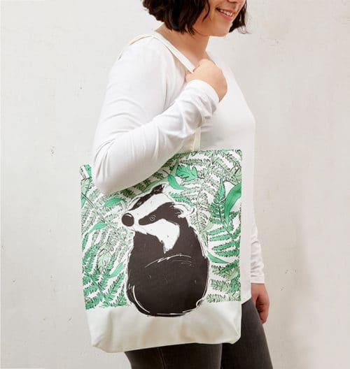 Mr Badger Tote Bag
