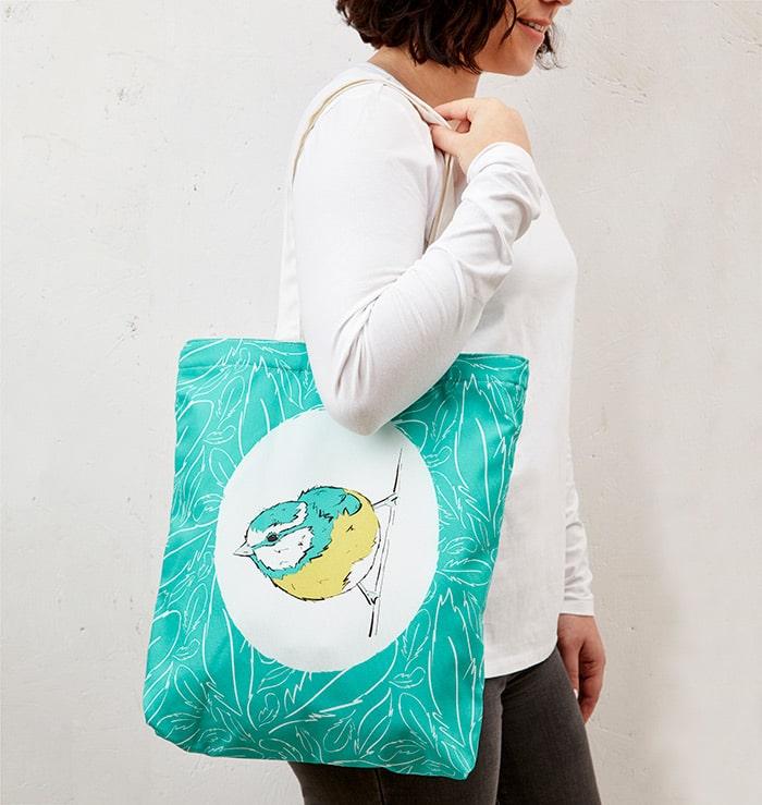 Mr Blue Tit Tote Bag