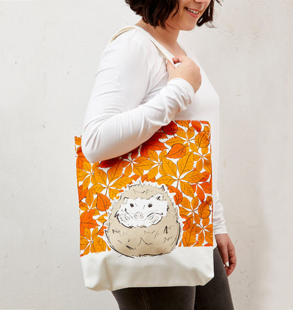 Mr Hedgehog Tote Bag