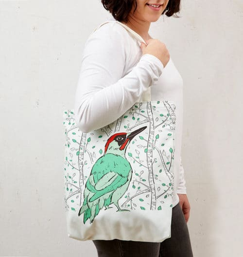 Mr Woodpecker Tote Bag