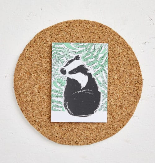 Mr Badger Greeting Card