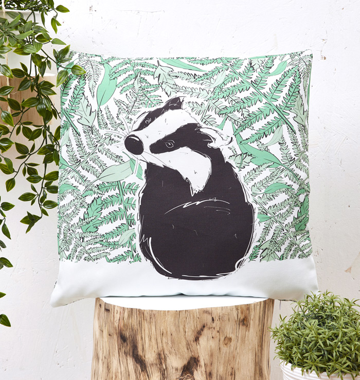 Mr Badger Cushion Cover