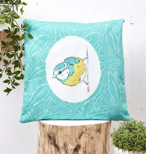 Mr Blue Tit Cushion Cover