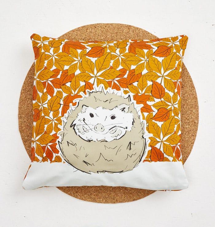 Mr Hedgehog Cushion Cover