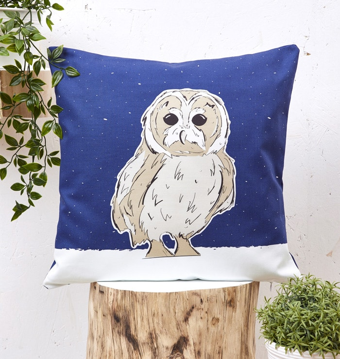 Mr Owl Cushion Cover
