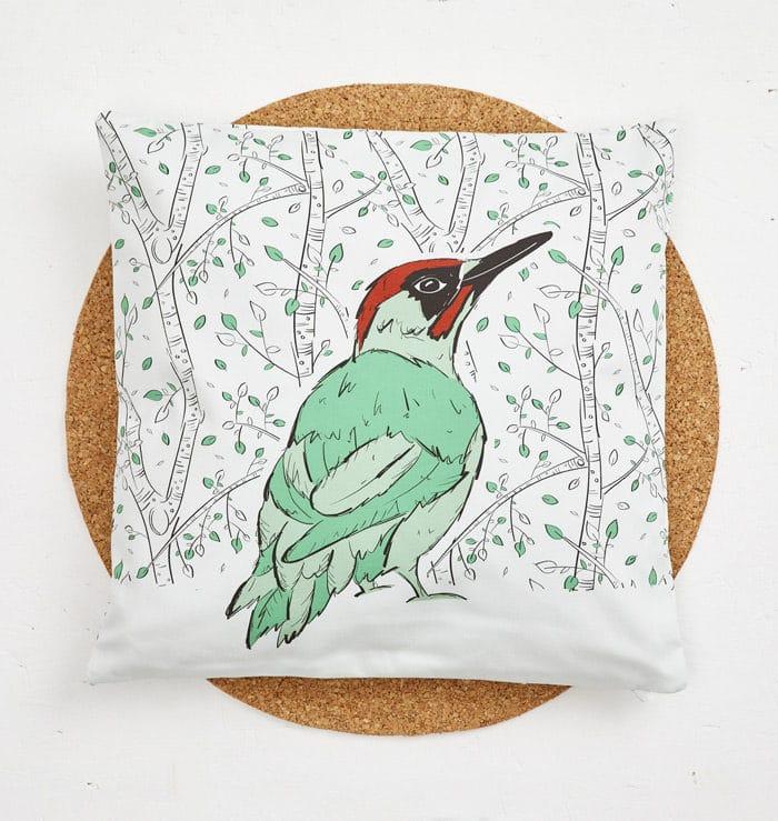 Mr Woodpecker Cushion Cover