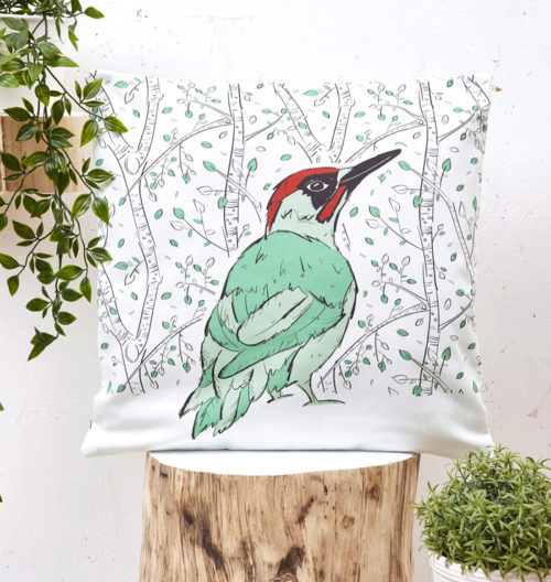 Mr Woodpecker Cushion Cover