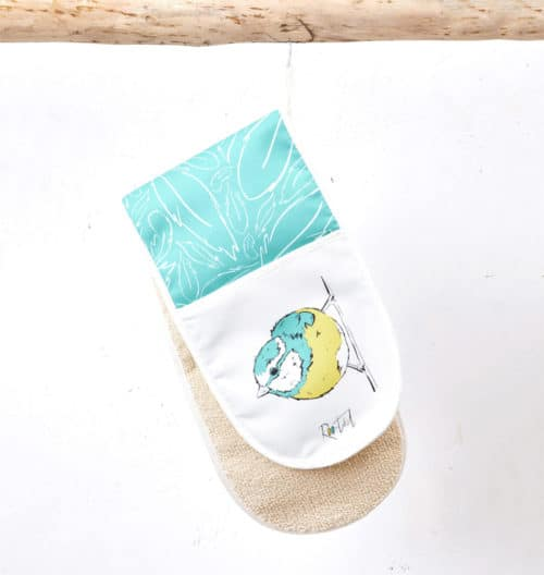 Mr Blue Tit Oven Gloves