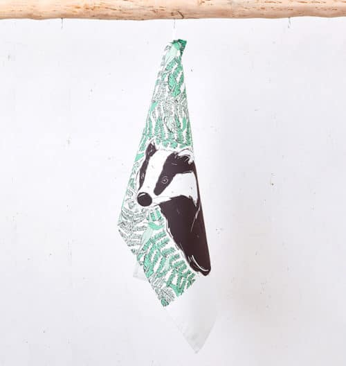 Mr Badger Tea Towel