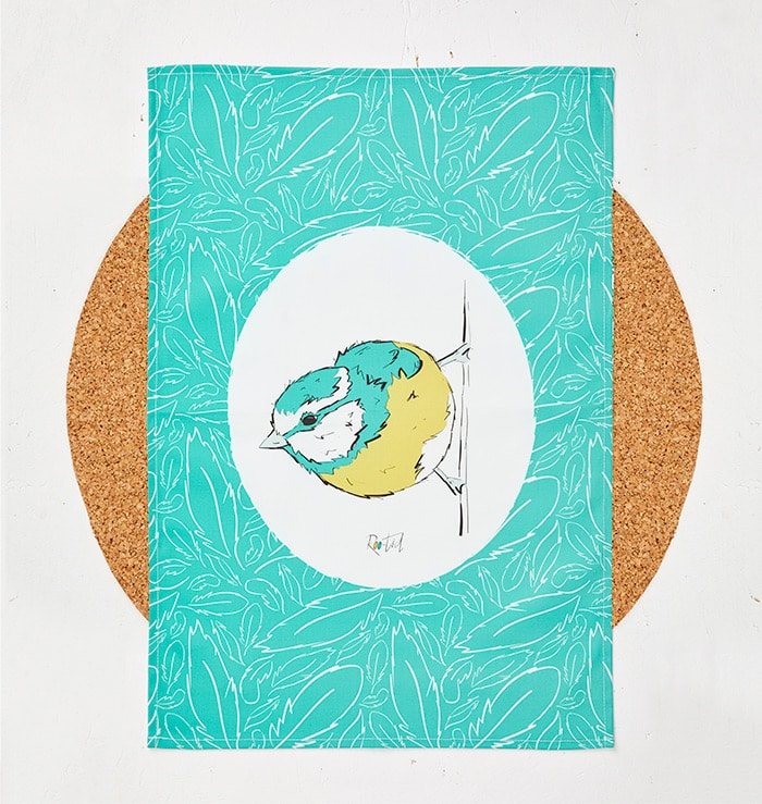Mr Blue Tit Tea Towel