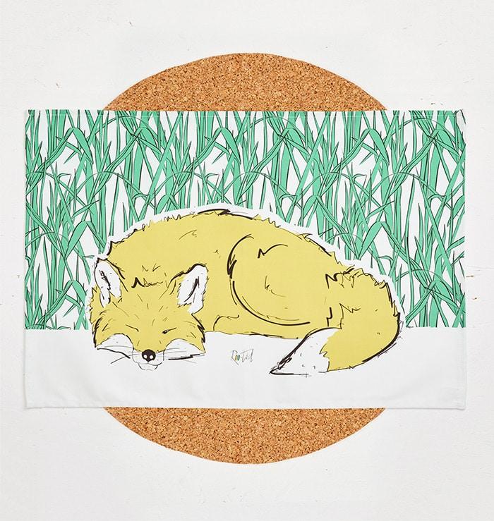 Mr Fox Tea Towel