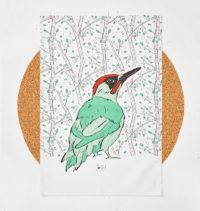 Mr Woodpecker Tea Towel
