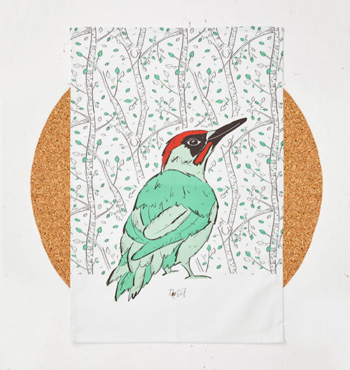 Mr Woodpecker Tea Towel